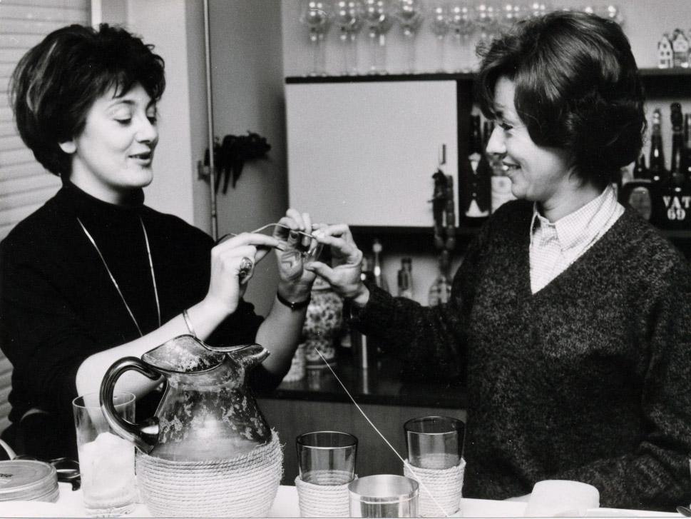 Elisabeth Schnell mit Caterina Valente