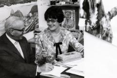 Elisabeth Schnell mit Robert Lembke